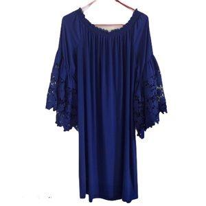 Joseph Ribcroft  royal blue knit dress